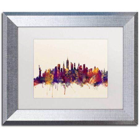Trademark Fine Art New York City Skyline Canvas Art by Michael ...