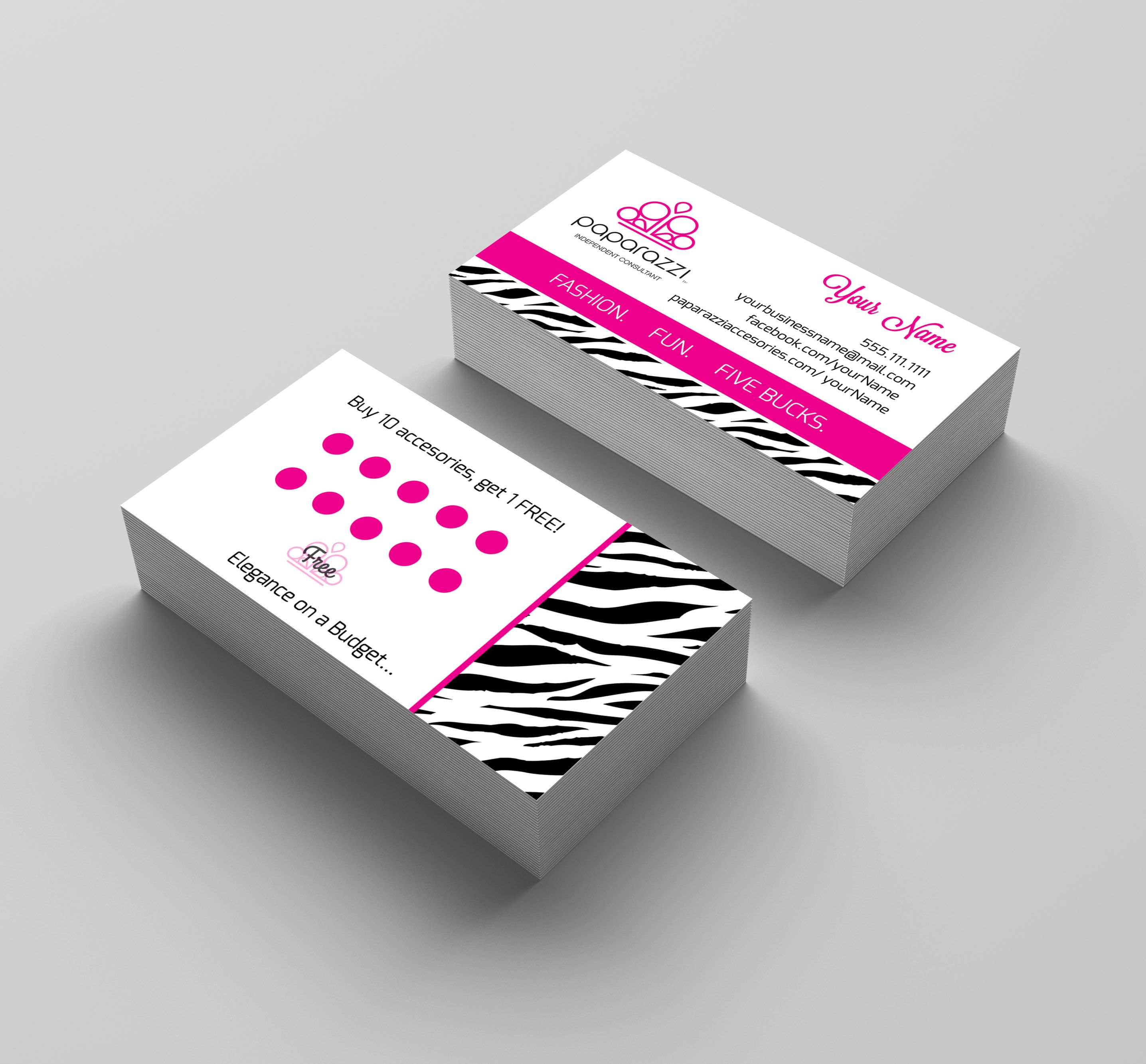 Paparazzi Business Card Frequent Buyer card Animal print