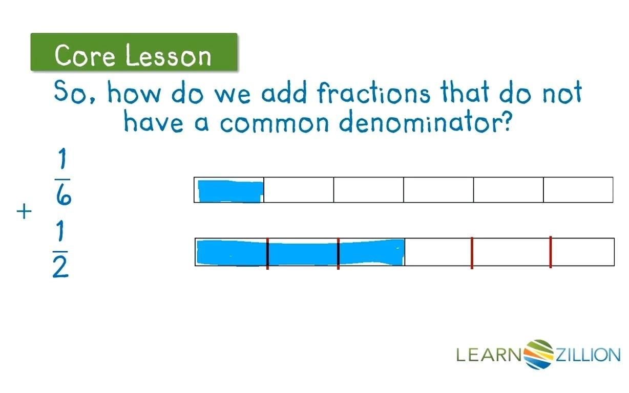 Add Fractions With Different Denominators Using Fraction