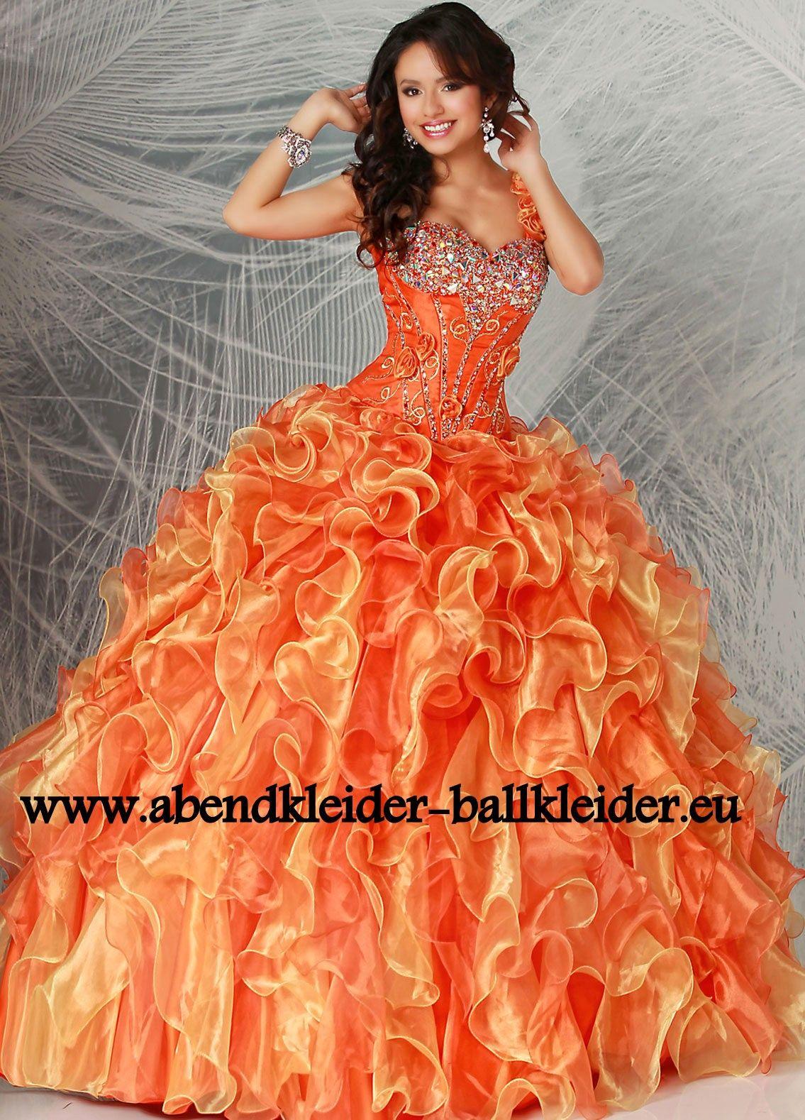 Cinderella Abendkleid Ballkleid Online in Orange  Ballkleid