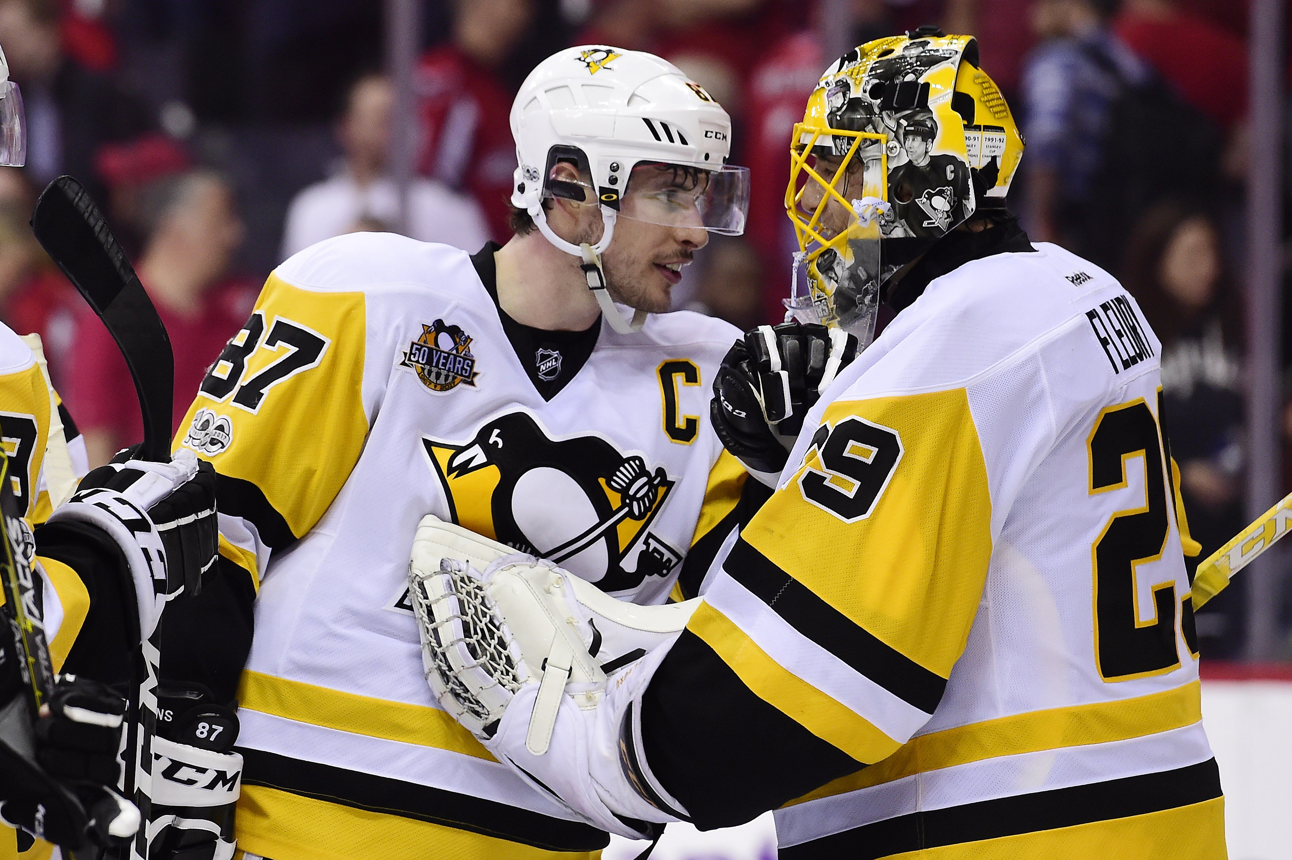 April 27, 2017 at Washington (Round 2, Game 1): Sidney Crosby scored twice to help the #Pens take Game One of the series. Final Score, 3-2 Penguins.