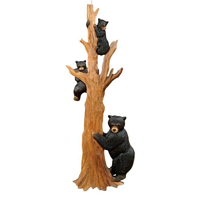 black bear tree climbing wall art - clearance | our log home decor