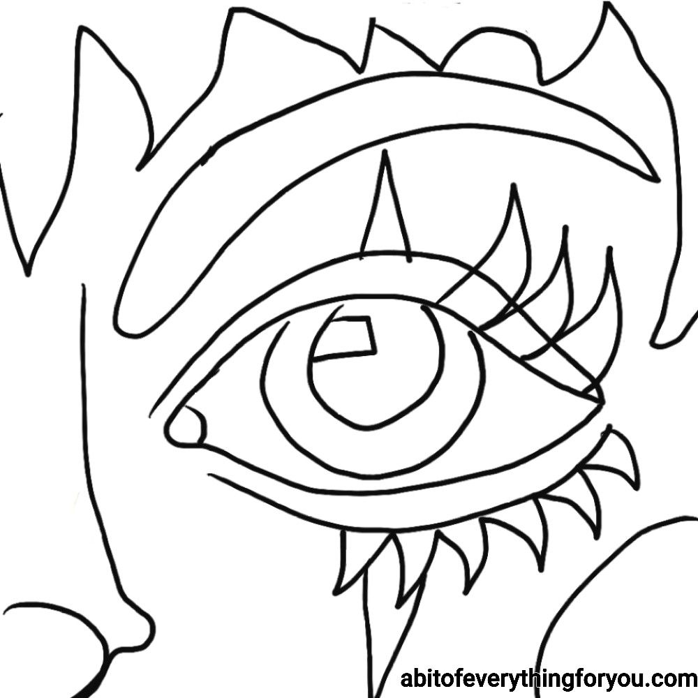 Clown Face Abstract Art Free Coloring Page Printable Coloring Books Coloring Pages Free Coloring Pages