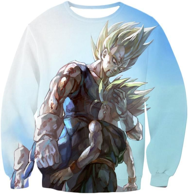 Dragon Ball Z Hoodie - Majin Vegeta And Trunks Hoodie - Sweatshirt / S