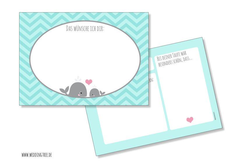 Weiteres - Wunschkarten zur Taufe - ein Designerstück von Kindsglueck bei DaWanda