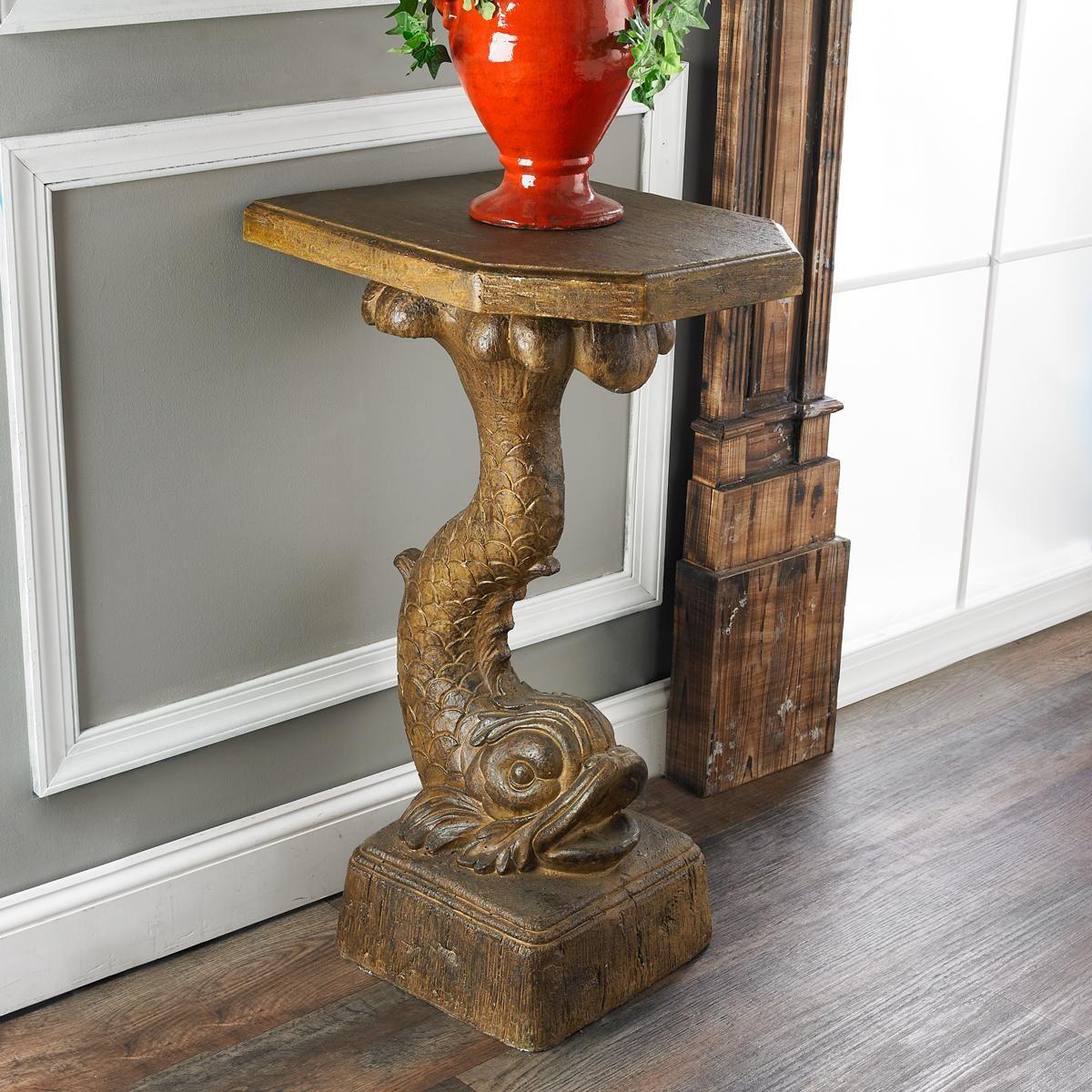 Strata art glass pendant light brown finish pedestal for Koi furniture