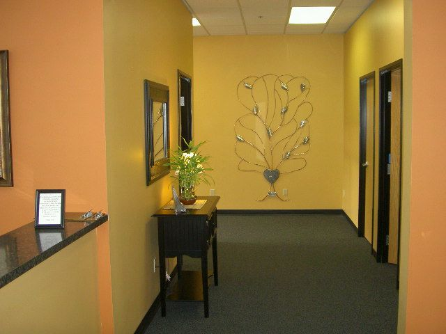 like the color warm and relaxing inside the chiropractic office