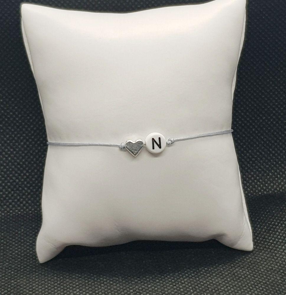 filigranes Armband Herz Silber Liebe Geschenkidee Makramee Makrameearmband