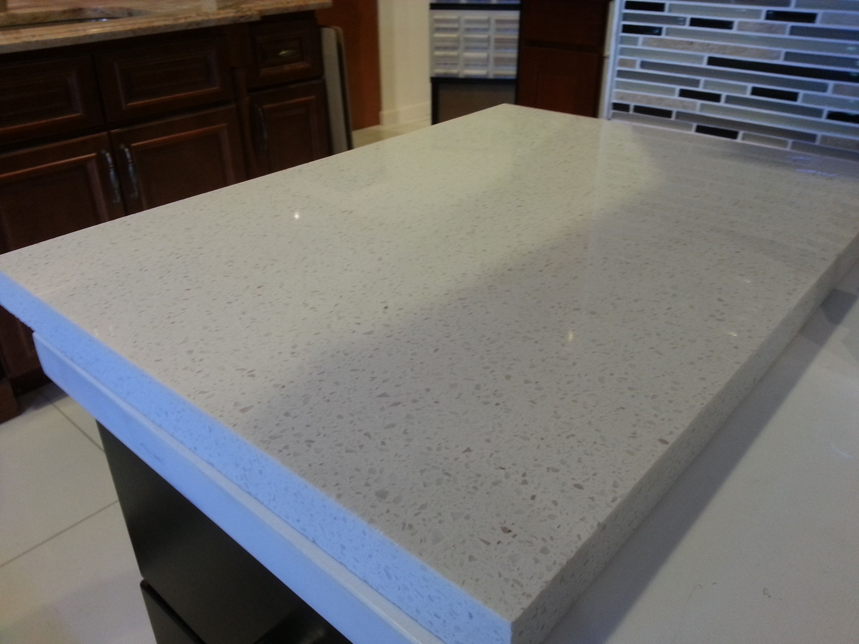 White Quartz Countertop Slab Cottage Kitchen Pinterest