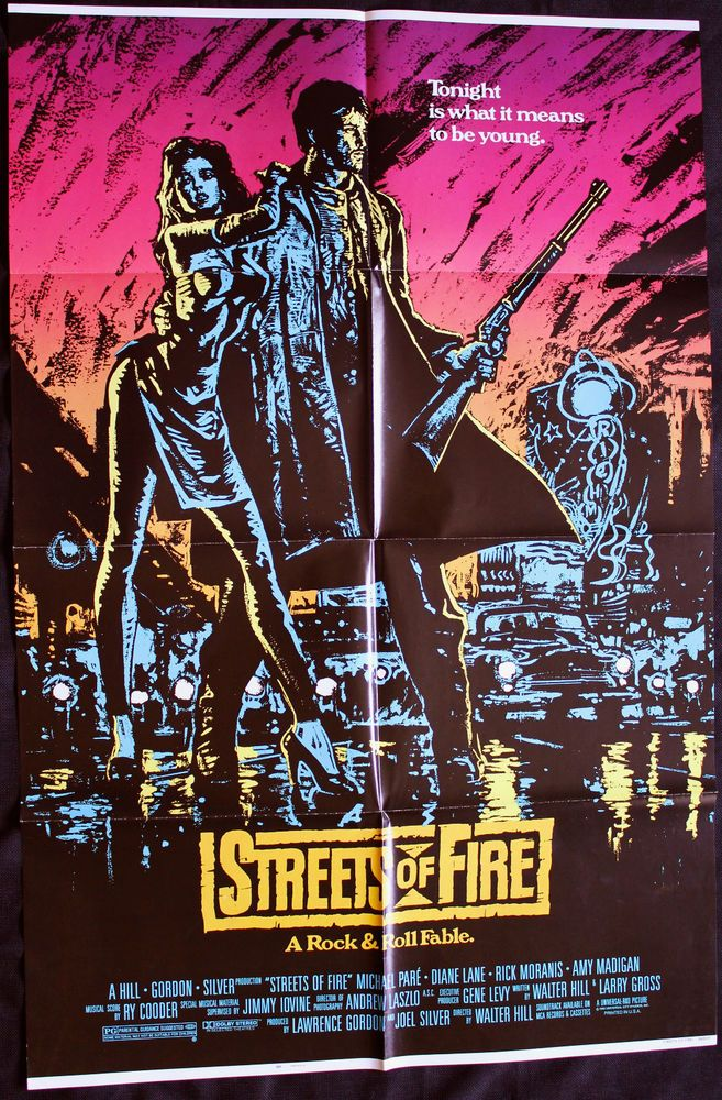 STREETS OF FIRE 1984 Movie Poster 27x41 Walter Hill Punk