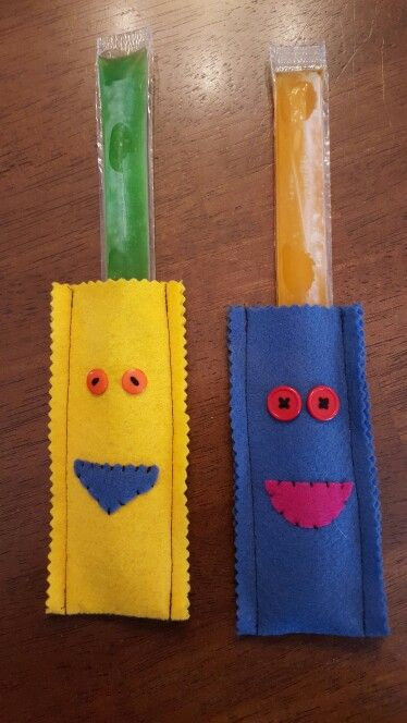 Icy pop holders. You can decorate  them to match a party theme!