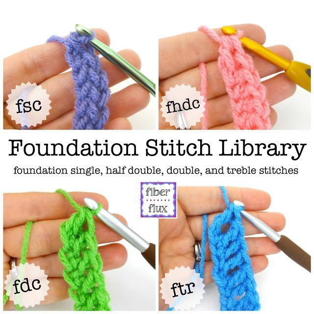Fiber Flux: Chainless Foundation Stitch Library   Crochet tips ...