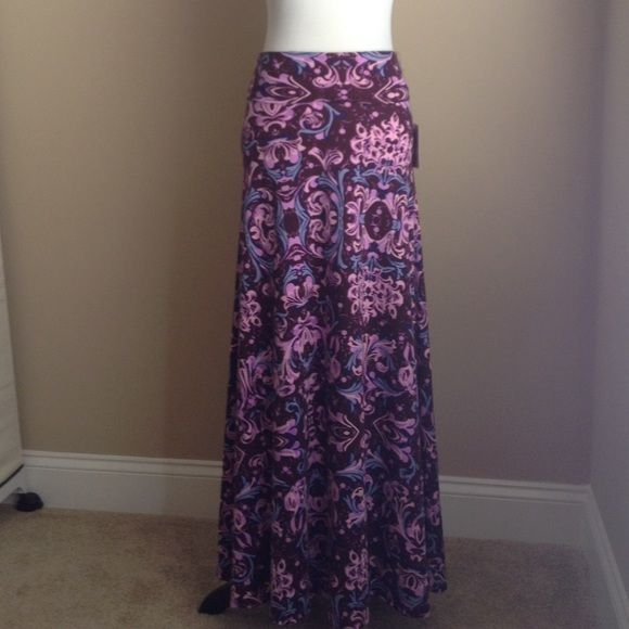 Women's Clothing Popular Brand New Lularoe Maxi Skirt L Large Lavender Purple Big Clearance Sale