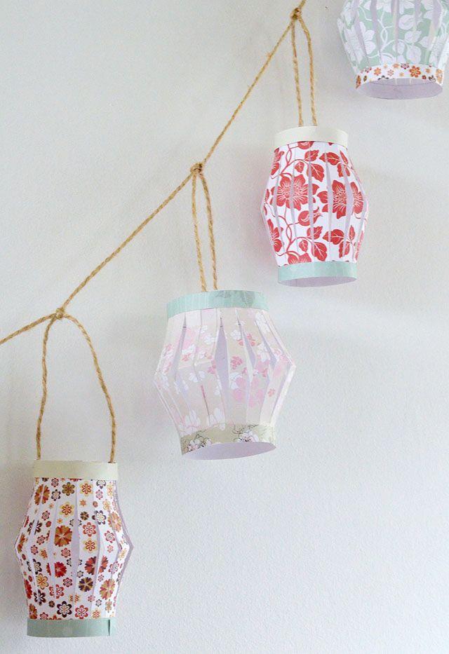 How to make paper lanterns paper lanterns for How to make paper lanterns easy