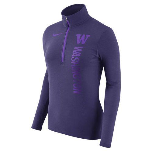 Women s Nike Heathered Purple Washington Huskies Dry Element Quarter-Zip  Pullover Jacket - size medium a1c804c28