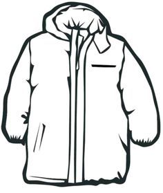 winter jacket drawing - Google-søk  Coloring pages winter