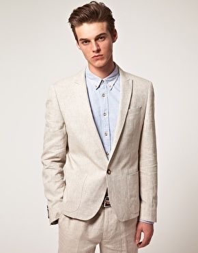 Linen suit, Suits and Groomsmen suits on Pinterest