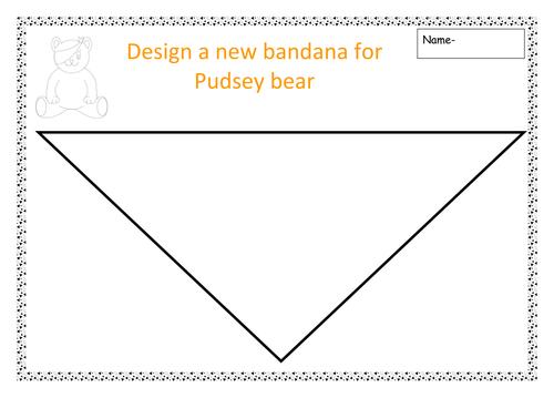 design a bandana for pudsey bear.doc | children in need | Pinterest ...