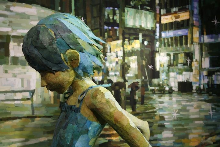 Sculptures Popping Out of Paintings - My Modern Metropolis