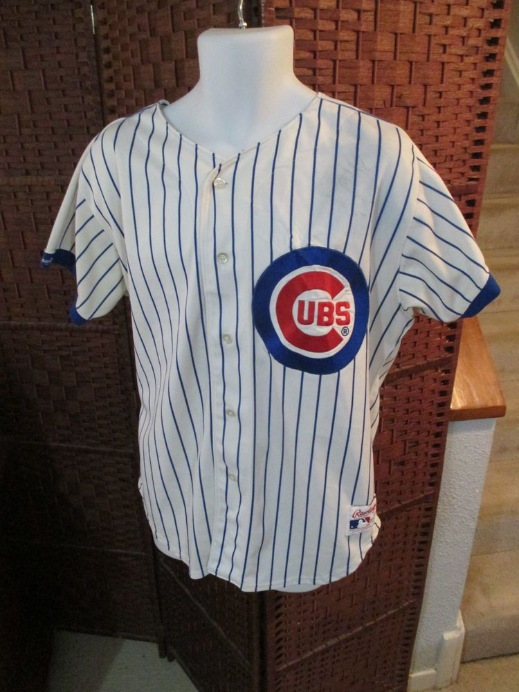 fabdd4d47 Vintage Rawlings Chicago Cubs Baseball Jersey Size 44 Sewn MLB   22.50 End  Date  Friday