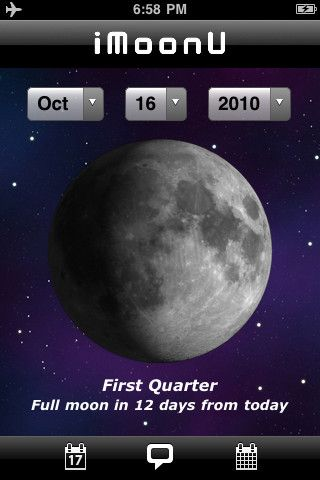 Imoon Is An Application That Will Display The Current Phase Of The