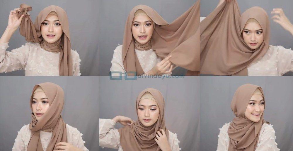 6 Style Tutorial Hijab Pashmina Simple Syar I Menutup Dada Cantik Modis Dan Kekinian Tutorial Hijab Pashmina Wanita Hijab