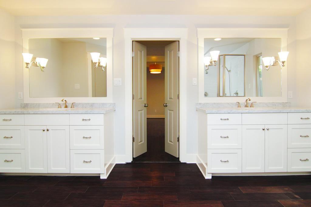 Stunning Master Bath With Separate His Hers Vanities Double Vanity Bathroom Home Starter Home