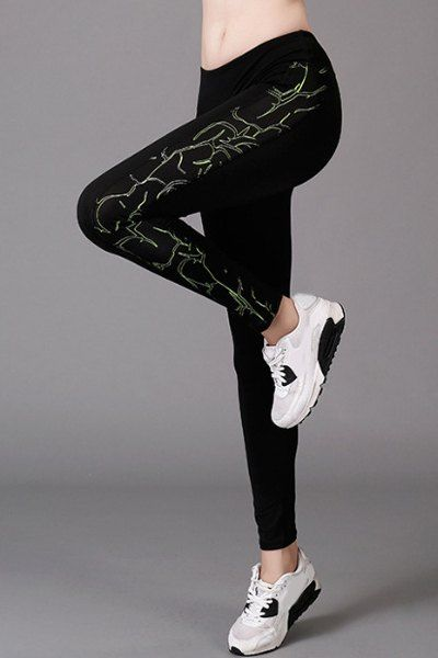 Stylish Printed Stretchy Yoga Pants For Women