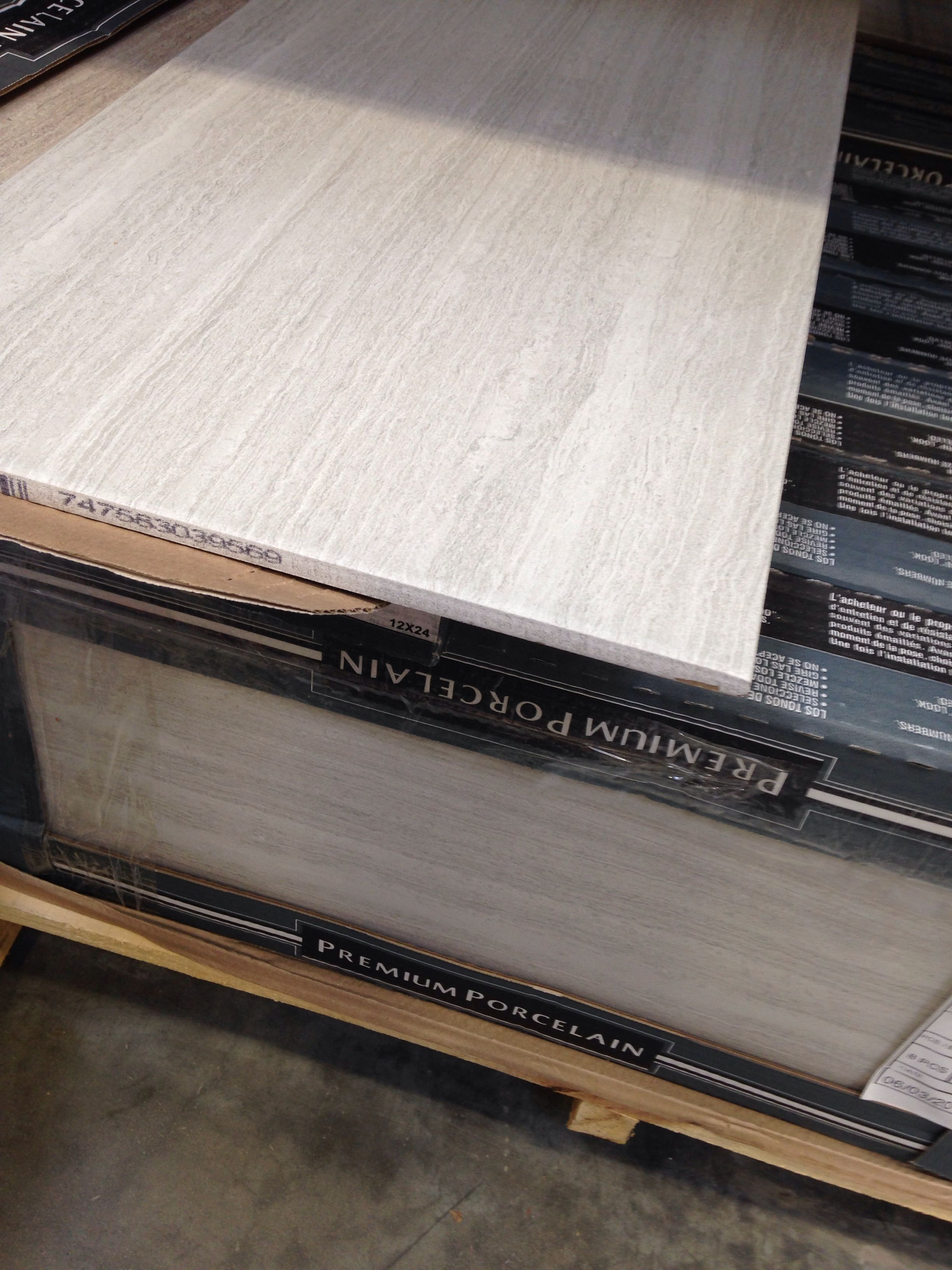 Cool Gray Porcelain Tile Hd 12x24 Classico Blanco 198 Sq Ft