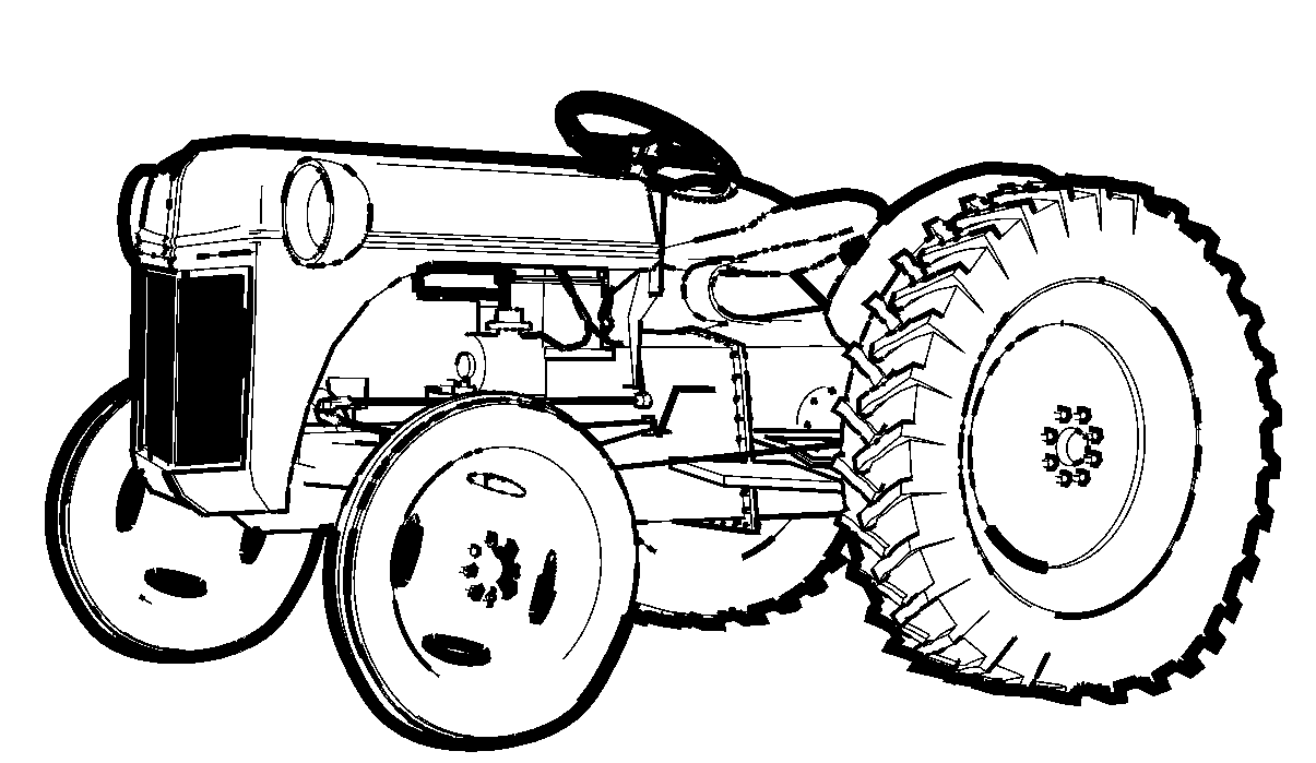 coloring book pages of tractors | Images For > Blender Coloring Page | Tractor coloring ...