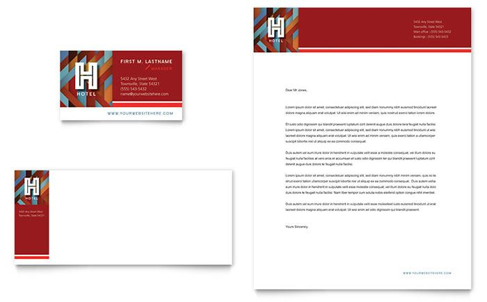 Hotel Business Card And Letterhead Template Design By Stocklayouts Letterhead Template Letterhead Letterhead Design