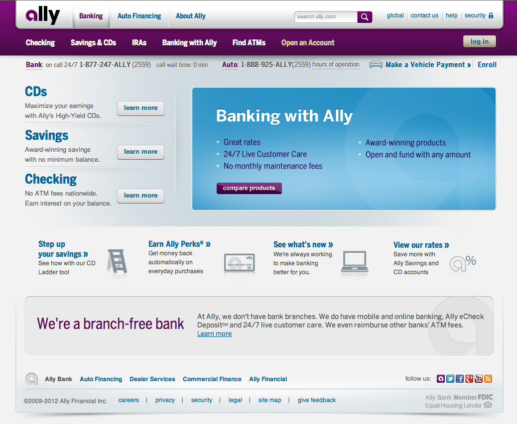 Ally Bank Website Banks Website Finance Financial Services