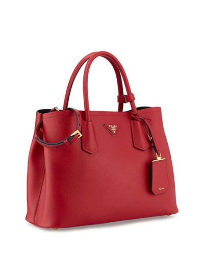 6f5bb22be41d NEW-Prada-Leather-Tote-Bag-Saffiano-Cuir-Red-Fuoco-Size-One-Size ...