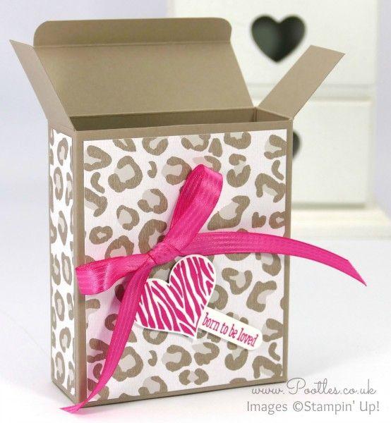 Go Wild Box Tutorial using Stampin' Up! Paper