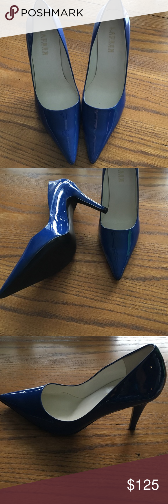 Gorgeous patent cobalt blue heels! New without box- Ralph Lauren cobalt blue heels. Size 10 Lauren Ralph Lauren Shoes Heels