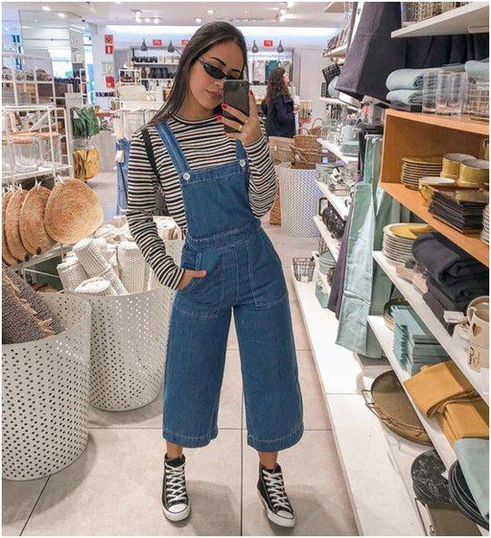 Jardineira jeans veja fotos, inspirações e dicas de como usar essa peça de roupa. #moda #modafeminina #jardineira #jardineirajeans #jeans #looks #comousar