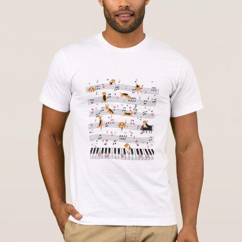 Piano Music Beagle T-Shirt Cute Dog Lover Dance Fa   pug beagle mix, puppy ears diy, puppy training #cats #catdogs #beagleworld, back to school, aesthetic wallpaper, y2k fashion