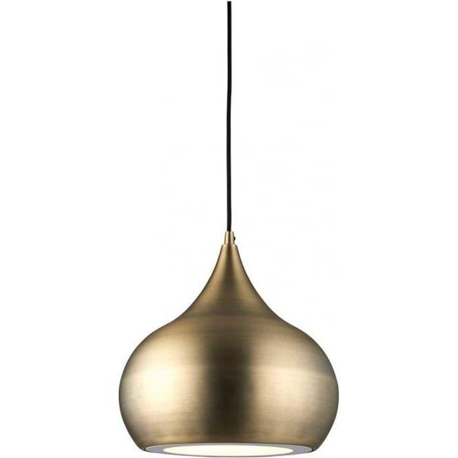 Endon Brosnan Contemporary Antique Brass Ceiling Pendant