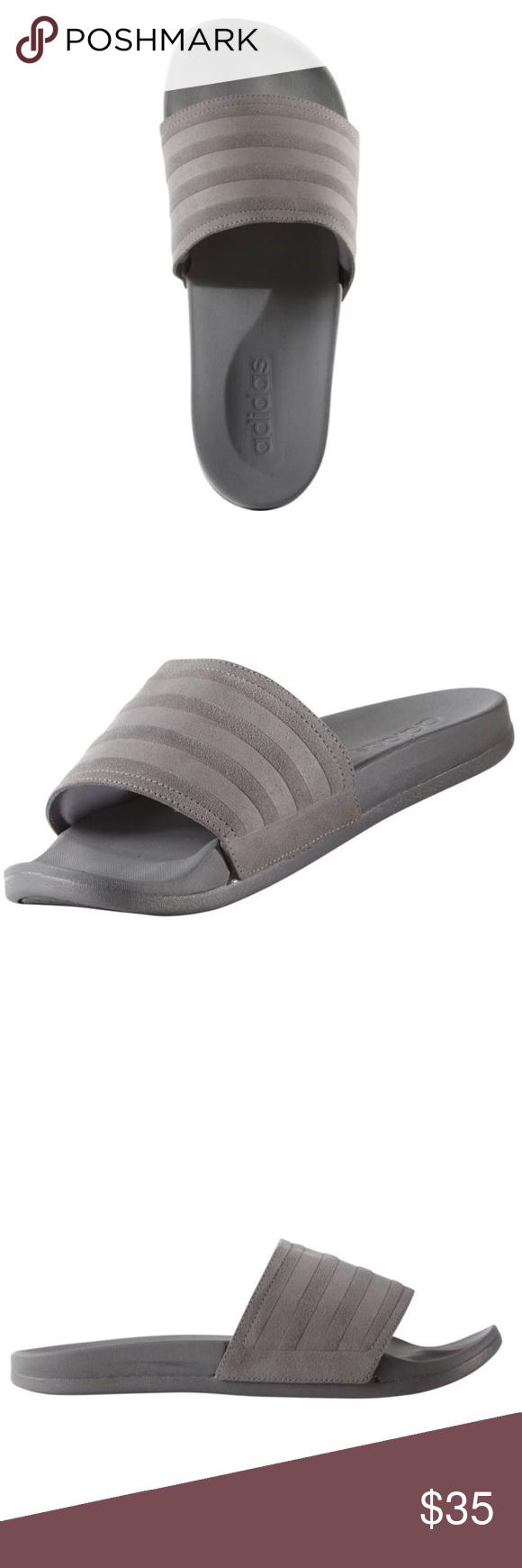 f73b4f990cc26c Adidas Adilette Suede Slides Sandals Slippers Adidas adilette suade slides slippers  Men size 10. Great suade slides Super comfortable