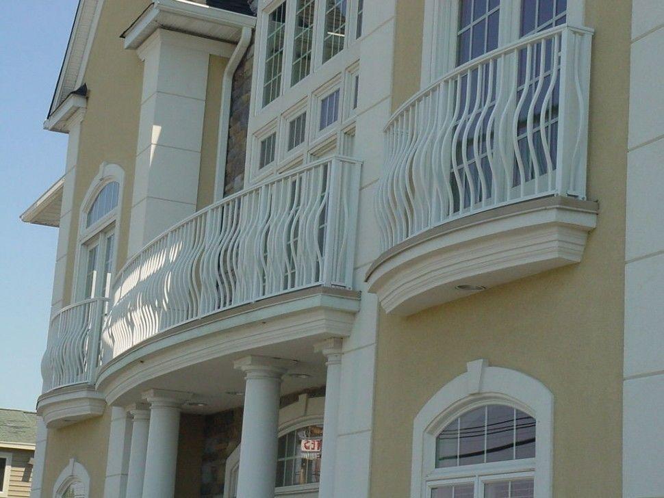 Exteriors Elegant White Iron Railing Balcony Fence Triple White Wood Glass Balcony Door Light Yellow Exterior Balcony Railing Building A Fence Juliette Balcony
