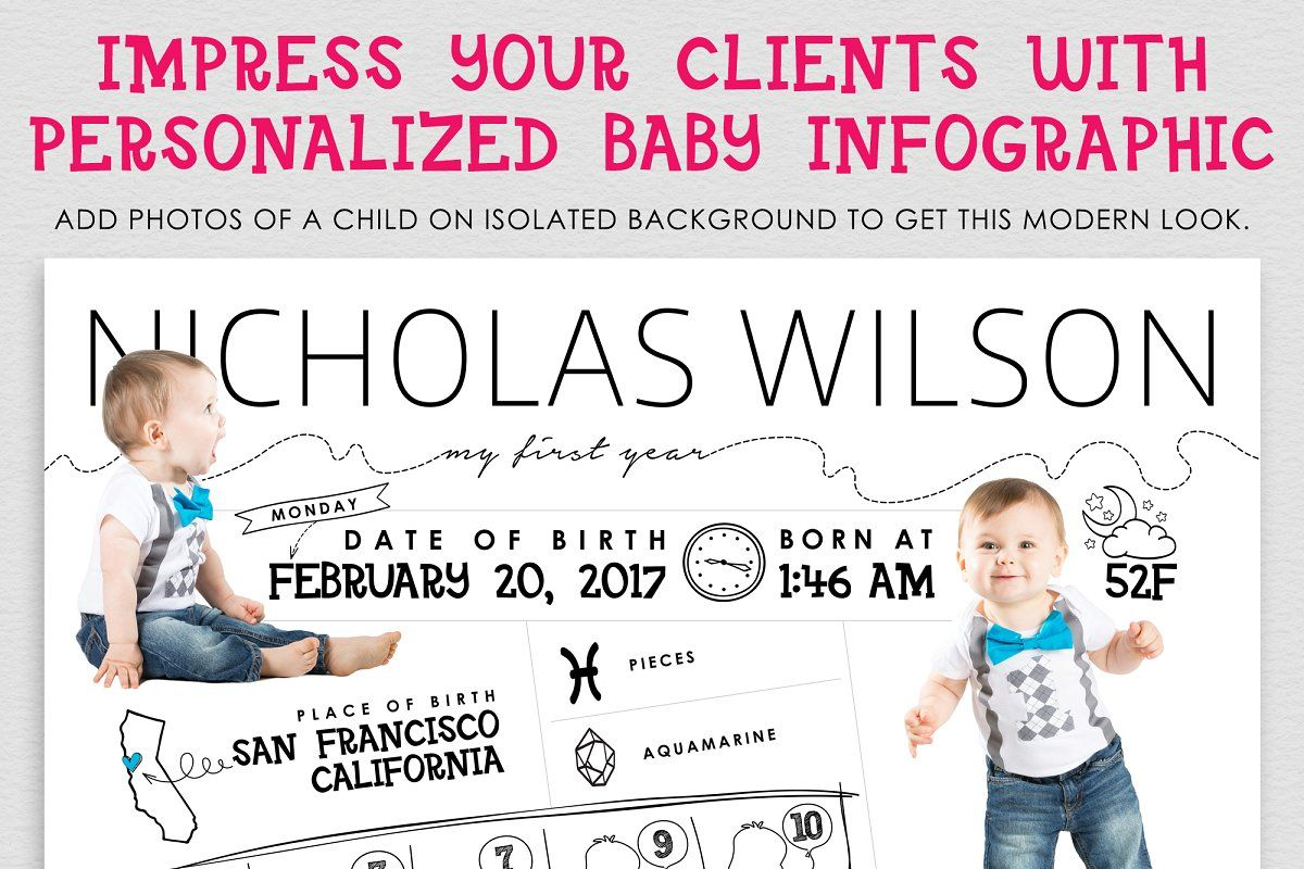 Birthday Poster Baby Infographic Baby Infographic First Birthday Posters Birthday Poster