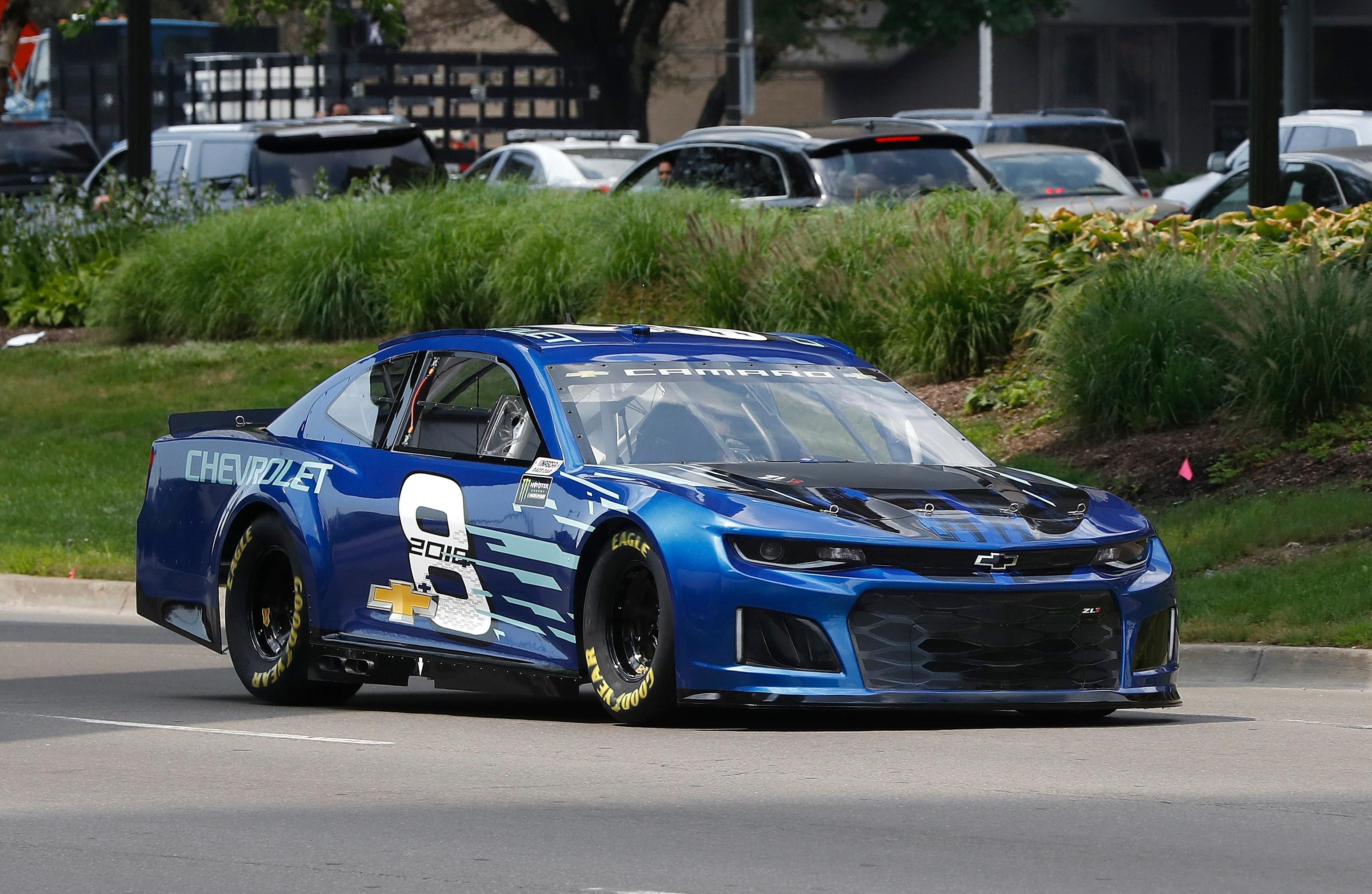 Chevrolet Unveiled Its 2018 Monster Energy Nascar Cup Series Car Thursday At Its Corporate Headquarters In Chevrolet Camaro Zl1 Nascar Race Cars Camaro Zl1