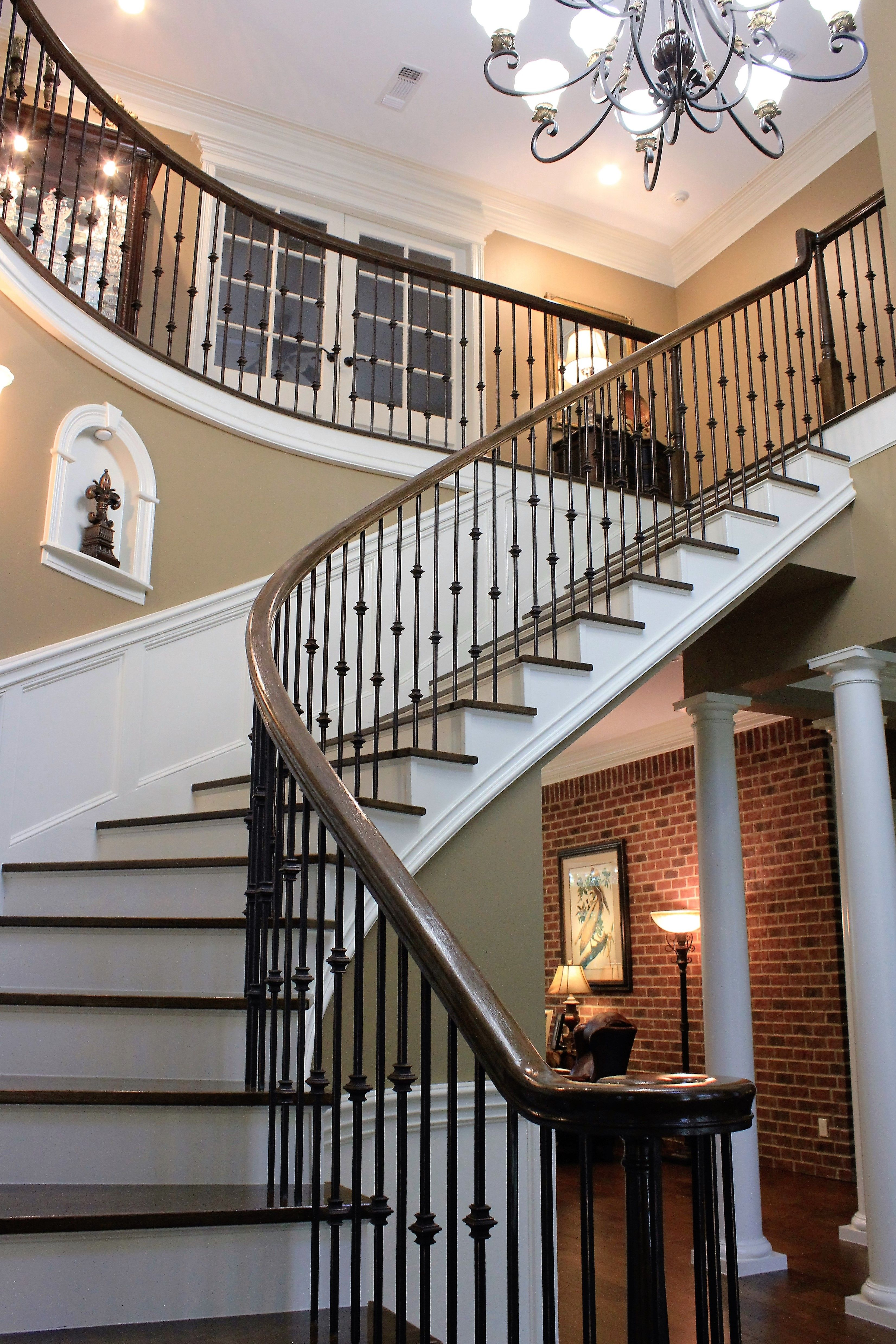 Elegant Staircase Custom Home By Larry James House Blueprints Custom Home Plans House Plans