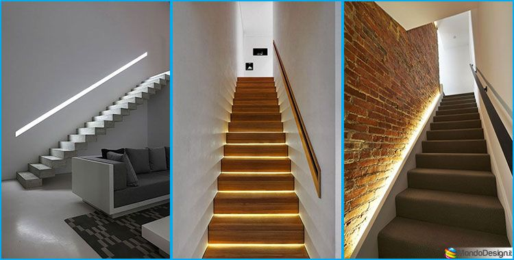 Illuminazione per scale interne: 30 idee originali con luci a led