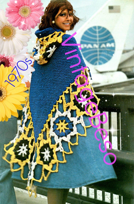 Hooded Cape Crochet Pattern • INSTANT DOWNLOAD • PDF • Vintage ...