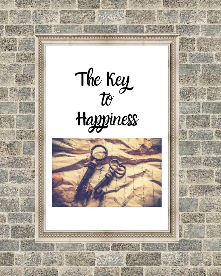 The Key To Happiness Printable Art Key To Happiness Printable Art Happy