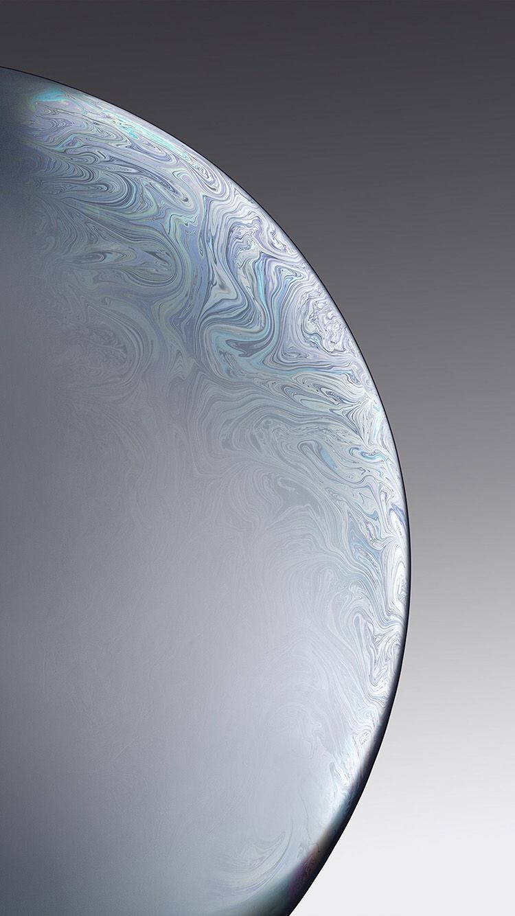 Bg40 Apple Iphone Xs Space Official Art Gray White Bubble In