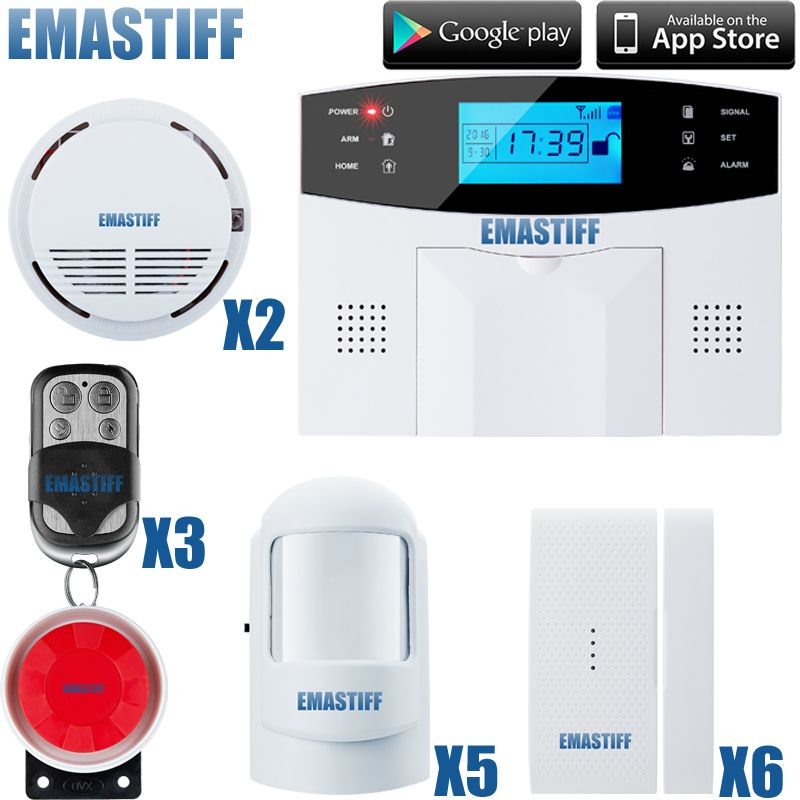 GSM Alarm System Security Host IOS Android APP Control