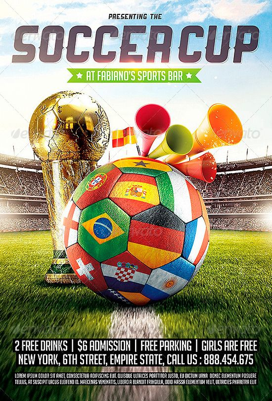 Brazil Soccer Cup 2014 Football Flyer Template -    www - football flyer template