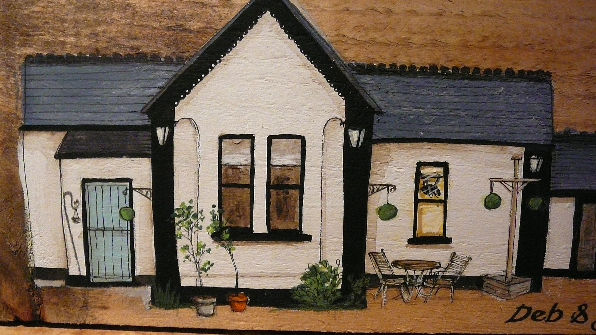 Sally's Shed - commission - a lovely quirky cottage